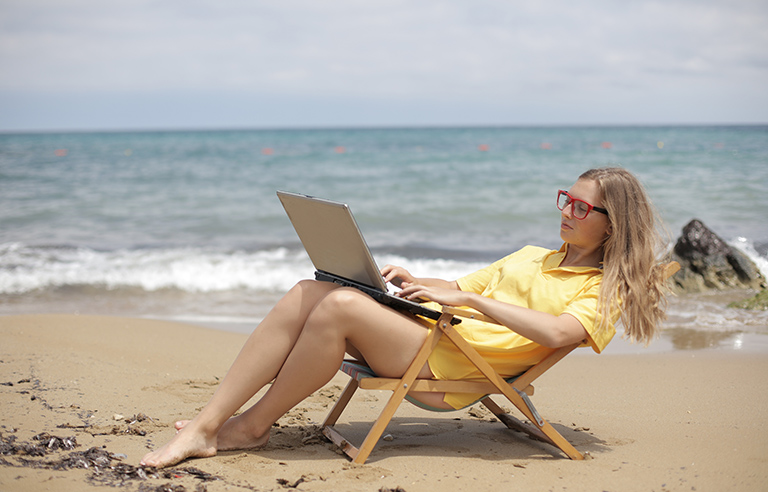Ordenador vacaciones