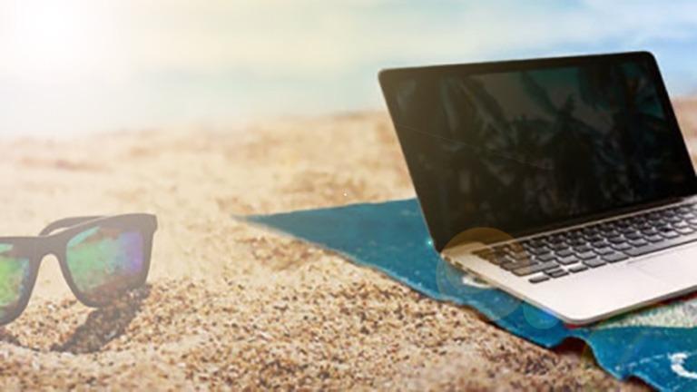 El ordenador puede sufrir daños en vacaciones